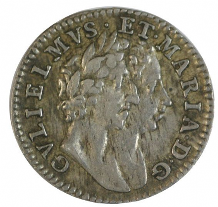 William and Mary Fourpence